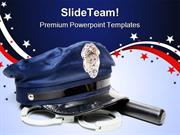 Police Uniform Americana PowerPoint Templates And PowerPoint Backgroun