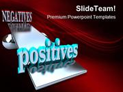 Positives Negatives Symbol PowerPoint Templates And PowerPoint Backgro