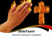 Prayer Of Fire Religion PowerPoint Templates And PowerPoint Background