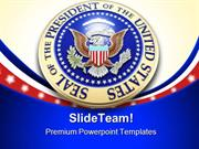 Presidential Seal Americana PowerPoint Templates And PowerPoint Backgr