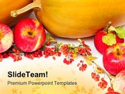 Pumpkins And Apples Halloween Festival PowerPoint Templates And PowerP