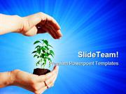 Protecting A Plant Nature PowerPoint Templates And PowerPoint Backgrou