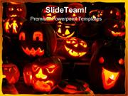 Pumpkins Halloween Festival PowerPoint Templates And PowerPoint Backgr