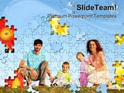 Puzzle Collage Family PowerPoint Templates And PowerPoint Backgrounds