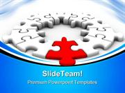Puzzle Solution Leadership PowerPoint Templates And PowerPoint Backgro