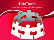 Puzzle Unity Leadership PowerPoint Templates And PowerPoint Background
