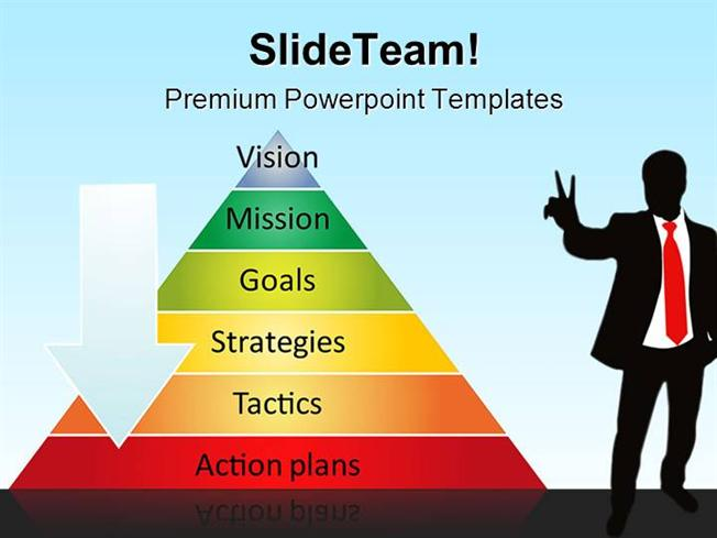 pyramid strategy business powerpoint backgrounds and templates ppt, Modern powerpoint