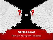 Questions With Last Puzzle Business PowerPoint Templates And PowerPoin
