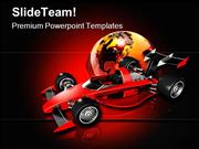 Race Car And Globe Sports PowerPoint Templates And PowerPoint Backgrou
