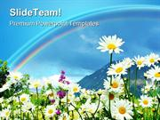 Rainbow And Flowers Beauty PowerPoint Themes And PowerPoint Slides ppt