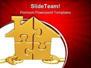 Realty Puzzle Metaphor PowerPoint Templates And PowerPoint Backgrounds