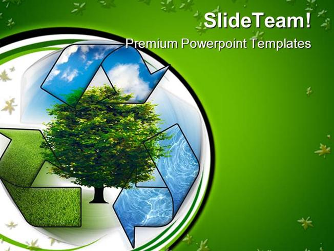 Recycle And Clean Environment Powerpoint Templates And Powerpoint
