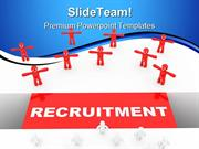 Recruitment Leadership PowerPoint Templates And PowerPoint Backgrounds