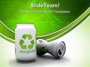 Recycle Aluminium Cans Environment PowerPoint Templates And PowerPoint
