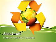 Recycle Globe PowerPoint Templates And PowerPoint Backgrounds ppt them
