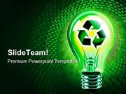 Recycling Idea Technology PowerPoint Templates And PowerPoint Backgrou