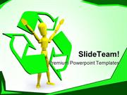 Recyle Man Environment PowerPoint Templates And PowerPoint Backgrounds