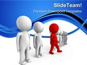Red Leader01 Leadership PowerPoint Templates And PowerPoint Background