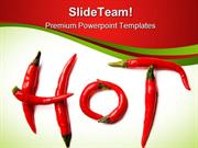 Red Hot Chilli Peppers Food PowerPoint Templates And PowerPoint Backgr
