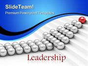 Red Leader Leadership PowerPoint Templates And PowerPoint Backgrounds
