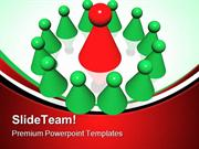 Red Leader Of Management Leadership PowerPoint Templates And PowerPoin