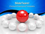 Red Sphere Leadership PowerPoint Templates And PowerPoint Backgrounds