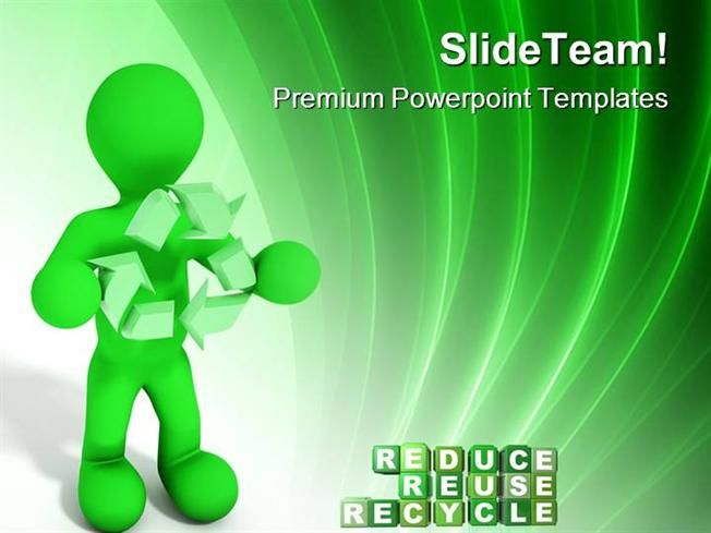 reduce reuse recycle environment powerpoint templates and powerpoi, Modern powerpoint