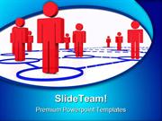 Render Human Connection Networking PowerPoint Templates And PowerPoint