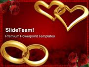 Rings Wedding PowerPoint Templates And PowerPoint Backgrounds ppt them