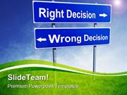 Right Wrong Decision Symbol PowerPoint Templates And PowerPoint Backgr