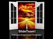 Road Of Success Business PowerPoint Templates And PowerPoint Backgroun