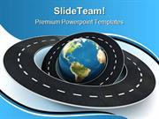 Roads Around The World Travel PowerPoint Templates And PowerPoint Back