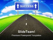 Road To Success Business PowerPoint Templates And PowerPoint Backgroun