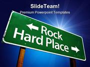 Rock Hard Place Symbol PowerPoint Templates And PowerPoint Backgrounds