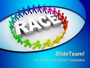 Runners Around World Race Competition PowerPoint Templates And PowerPo
