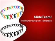 Round Of Peoples Communication PowerPoint Themes And PowerPoint Slides