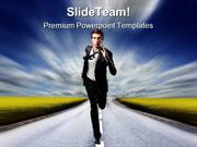 Run Businessman Business PowerPoint Themes And PowerPoint Slides ppt l