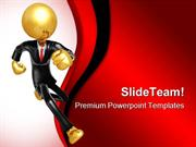 Running Businessman Business PowerPoint Themes And PowerPoint Slides p