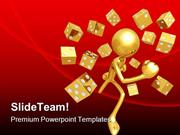 Running With Dice Symbol PowerPoint Templates And PowerPoint Backgroun