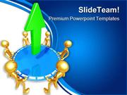 Safety Net Bouncing An Arrow Business PowerPoint Templates And PowerPo