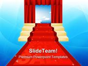 Sale Red Carpet Business PowerPoint Templates And PowerPoint Backgroun