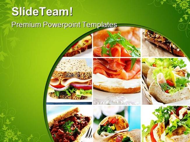 Salad Collage Food Powerpoint Templates And Powerpoint Backgrounds