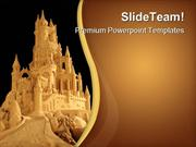 Sand Castle Architecture PowerPoint Templates And PowerPoint Backgroun
