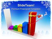 Sales Graph Christmas PowerPoint Themes And PowerPoint Slides ppt layo