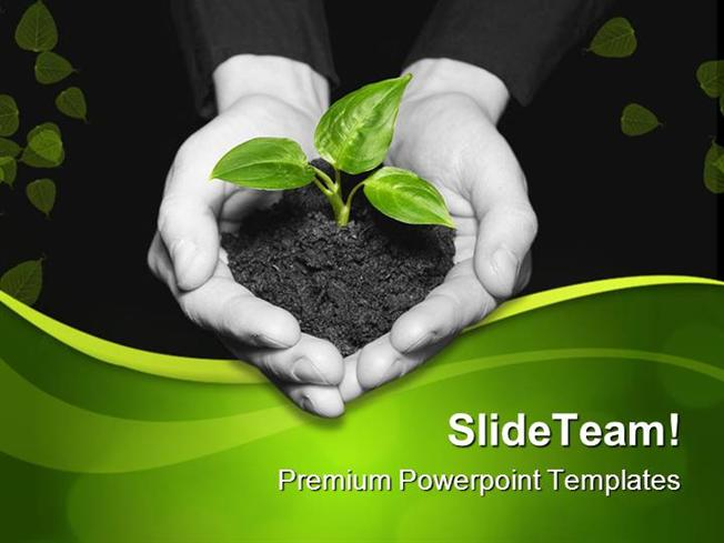 Save Plant Nature Powerpoint Templates And Powerpoint Backgrounds