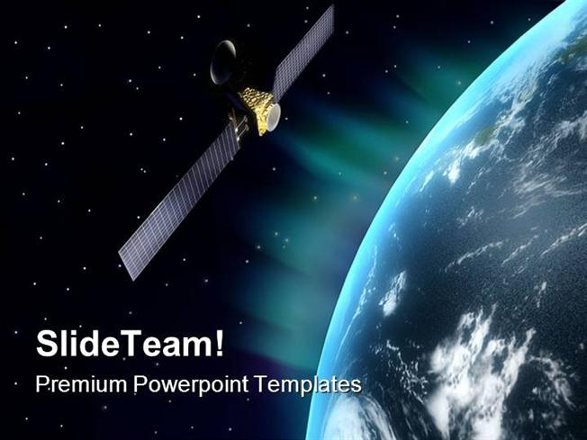 Satellite Globe Powerpoint Templates And Powerpoint Backgrounds Pp