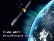 Satellite Globe PowerPoint Templates And PowerPoint Backgrounds ppt la