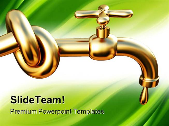 Save Water Concept Environment Powerpoint Templates And Powerpoint