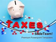 Saving Money On Taxes Future PowerPoint Templates And PowerPoint Backg