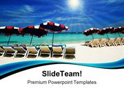 Sea Chair Beach PowerPoint Templates And PowerPoint Backgrounds pgraph